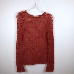 Relais Knitwear Burnt Orange Loose Knit Sweater S